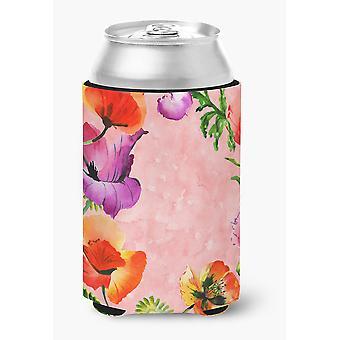 Carolines tesori CK1701CC fiori del papavero lattina o bottiglia Hugger