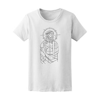 Jesus Christ Prisioner Drawing Tee Women's -Image by Shutterstock