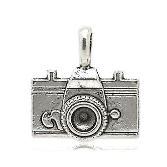 Packet 5 x Antique Silver Tibetan 22mm Camera Charm/Pendant ZX05890