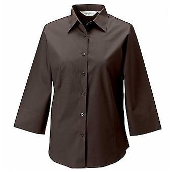 Russell Collection Ladies 3/4 sleeve fitted shirt