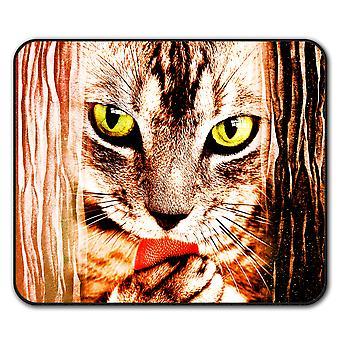 Глаза животных фантазии кота мыши скольжения мат площадку 24 см х 20 см   Wellcoda