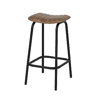 Light & Living Stool 43x47x75 Cm CARROW Leather Brown