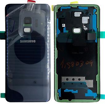 Samsung GH82-15865D Akkudeckel Deckel für Galaxy S9 G960F + Klebepad Coral Blue Blau Neu