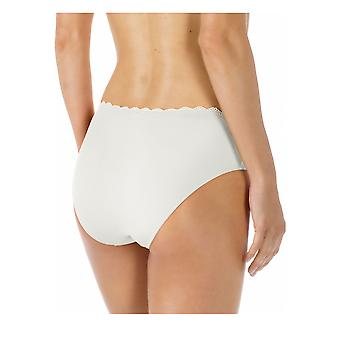 Mey Women 79801-1 Women's Allegra White Solid Colour Knickers Panty Full Brief