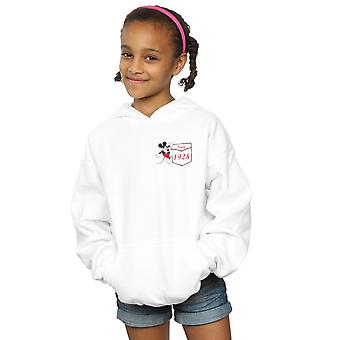 Disney Girls Mickey Mouse Faux Pocket Since 1928 Hoodie