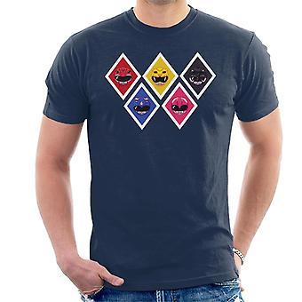 Power Ranger Pixel Helmets Men's T-Shirt