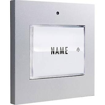 m-e modern-electronics 41048 Bell button backlit, with nameplate Detached Silver 8-24 V AC/DC/1 A