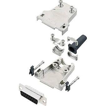 encitech DTZF15-DMS-K D-SUB receptacle set 180 ° Number of pins: 15 Solder bucket 1 Set