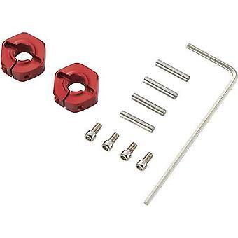 01:10 cerchio in alluminio mozzo 12 mm esagonale 5 mm Reely Red 4/PC