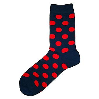 Bassin and Brown Spotted Socks - Navy/Red