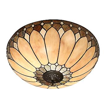 Interiors 1900 Brooklyn 2 Light Flush Ceiling Fitting I