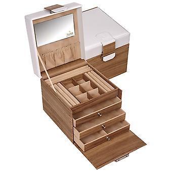 Sacher bijoux valise STYLE bijoux boîte nordique blanc bois look et verrouillable