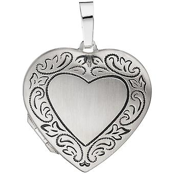 Locket heart sterling silver BETTINA pendant silver costume jewelry