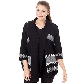 Oneill White Aop-Black Woodland Womens Cardigan