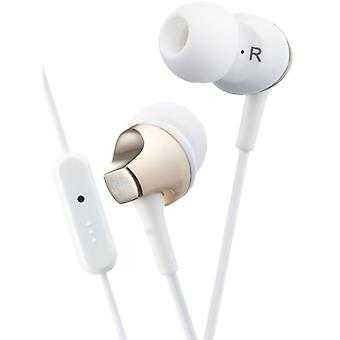 JVC HAFR325B Premium Sound In Ear Earphone with Remote & Mic - Gold