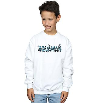 DC Comics Boys Aquaman Text Logo Sweatshirt