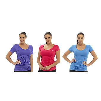 Pack of 3 Ladies Tom Franks Sport Gym Top beach holiday Fashion Vest Sportswear