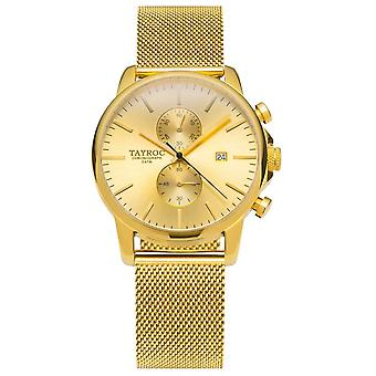 Tayroc Txm053 Iconic Gold Stainless Steel Strap & Stainless Steel Gold Case