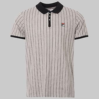 Fila Vintage BB1 Pinstripe Polo Shirt Grey