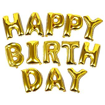TRIXES Gold HAPPY BIRTHDAY Balloon Letters