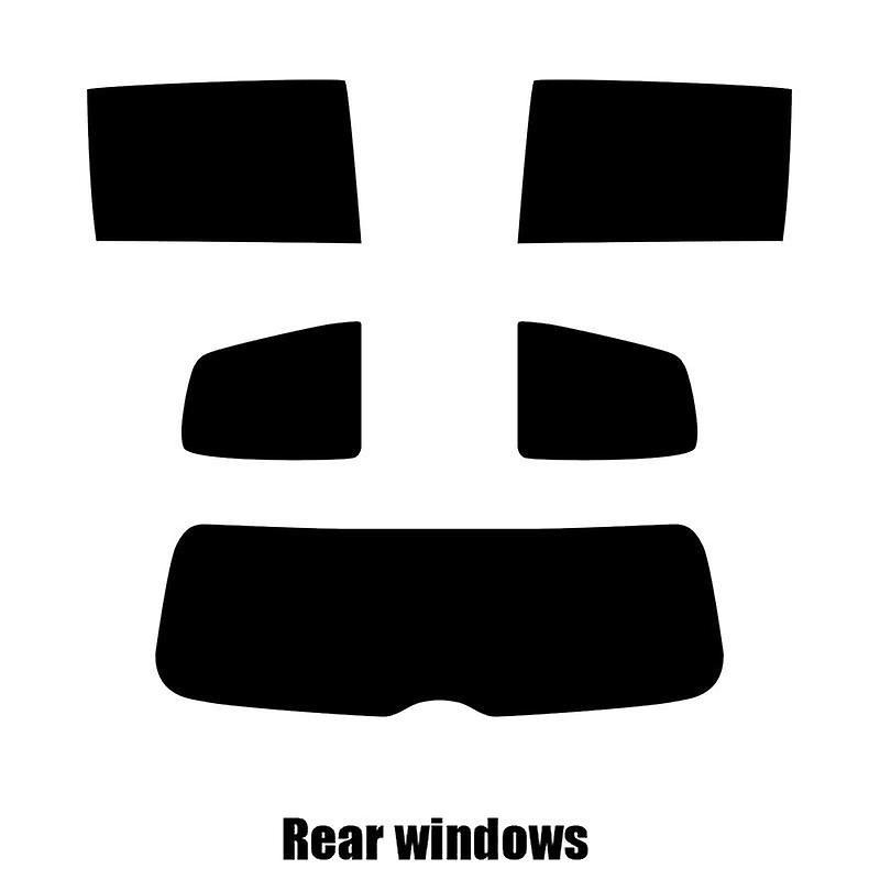 Pre cut window tint - SEAT Alhambra - 2010 to 2016 - Rear windows