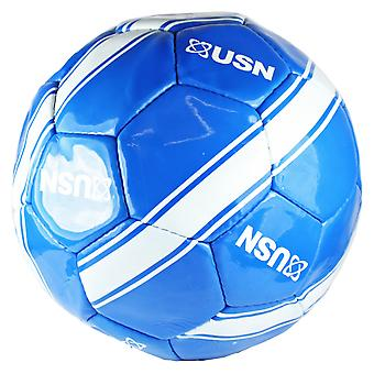 USN Football Size 5 Blue & White Soccer Ball