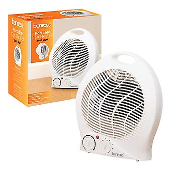 Benross 2kW Portable Fan Heater 2000 Watt With Heat and Cooling Settings White