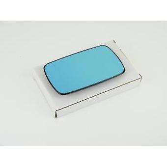 Left Passenger Blue Mirror Glass (Heated) & Holder For BMW 5 Touring 1991-1997