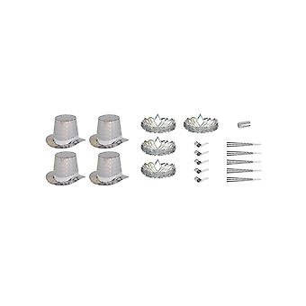 Silver Las Vegas Party Kit for 10 People