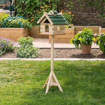 Traditional Wooden Bird Table Freestanding Garden Feeder Feeding Station 135.5cm