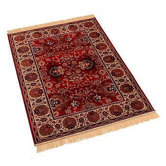 Red Traditional Indian Agra Artificial Faux Silk Effect Rugs 4620/12 100 x 140cm