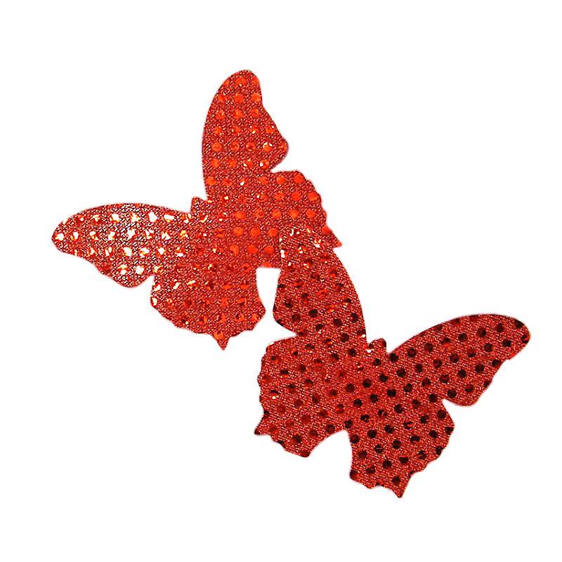Waooh 69 - Cache-Tétons Papillons Rouge