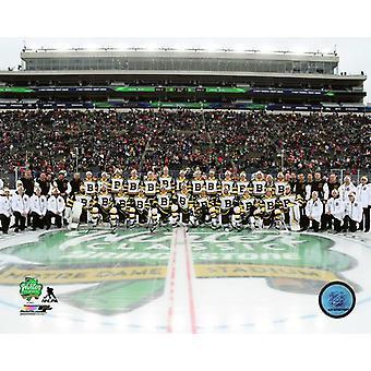 Boston Bruins Team Photo 2019 NHL Winter Classic Photo Print