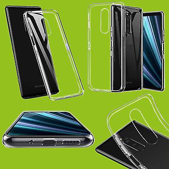 Silikoncase TPU transparent to Sony Xperia 1 6.5 inch protective case cover sleeve pocket