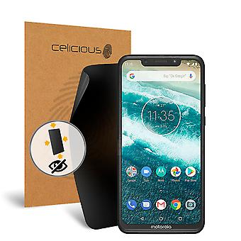 Celicious Privacy Plus 4-Way Antispion filteren Screen Protector Film compatibel met Motorola één