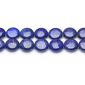 Strand 30+ Blue Lapis Lazuli 12mm Dyed Puffy Coin Beads GS0221-2