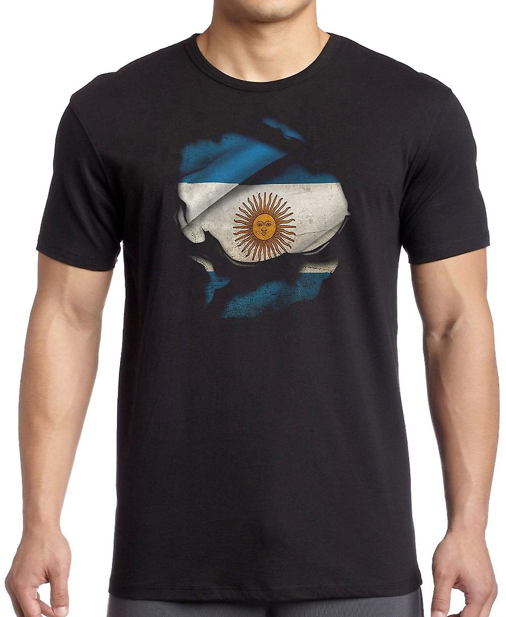 Argentinian Argentina Ripped Effect Under Shirt T Shirt