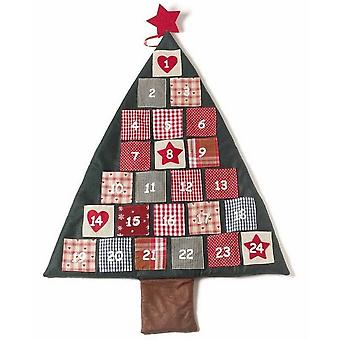 Stof kerstboom adventkalender