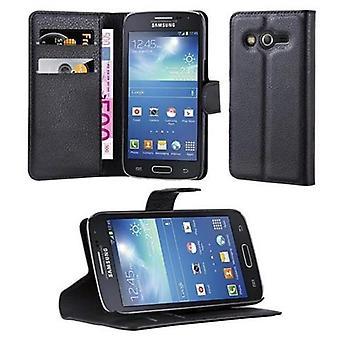 Cadorabo Hülle für Samsung Galaxy CORE LTE - Handyhülle mit Magnetverschluss, Standfunktion und Kartenfach – Case Cover Schutzhülle Etui Tasche Book Klapp Style