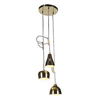 QAZQA Country Pendant Lamp 3 Brass - Vidya