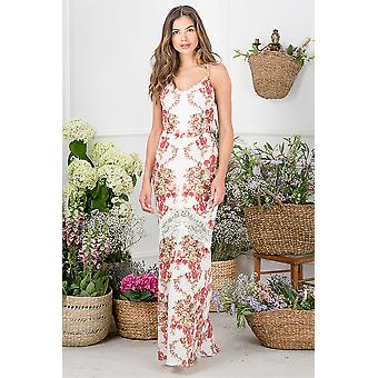 Hope and Ivy Floral Print Maxi Dress