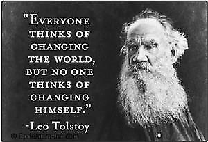 Tolstoy ''Everyone Thinks...'' fridge magnet