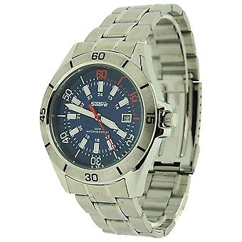Sabre Gents Blue Dial, Date, Luminous Hands, Stainless Steel Strap Watch 7964G