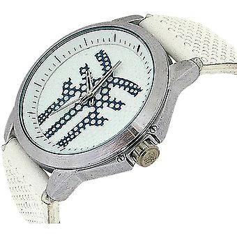 Fenchurch Gents Analogue Genuine White Leather Strap Casual Watch AN89