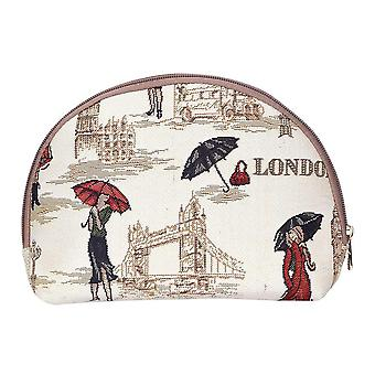 Miss london big cosmetic bag by signare tapestry / bgcos-msln