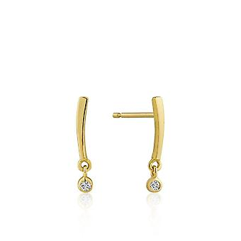 Ania Haie Gold Plated Sterling Silver 'Touch Of Sparkle Shimmer' Bar Stud Earring