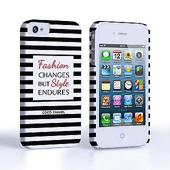 Caseflex iPhone 4and4s Chanel 'Fashion Changes' Quote Case – Black and White