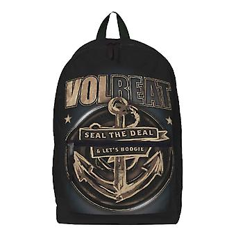 Volbeat Backpack Bag Seal The Deal Band Logo new Official Black
