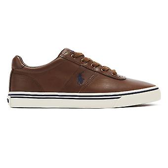 Ralph Lauren Hanford Mens Tan Leather Trainers