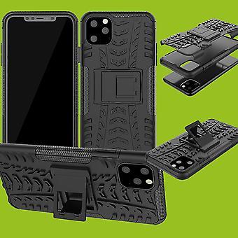 Pour Apple iPhone 11 Pro 5.8 pouces Hybrid Case 2Piece Outdoor Black Case Cover Protection